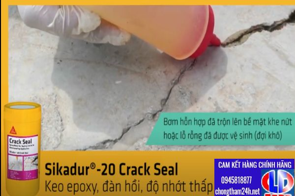 sikadur 20 crack seal xu ly nut 3